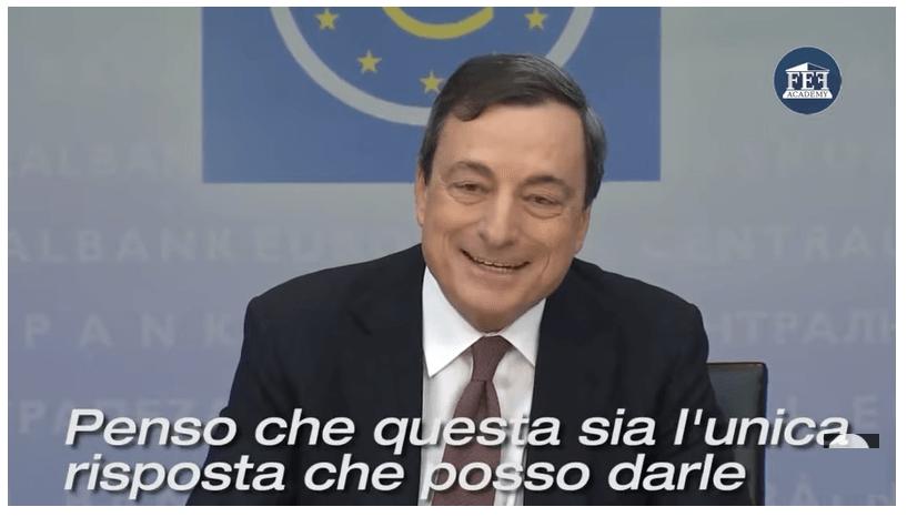 dichiarazione Draghi BCE non può finire i soldi